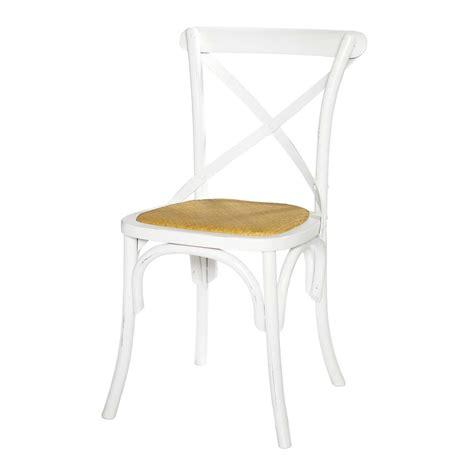 chaise en rotin naturel et bois blanche tradition