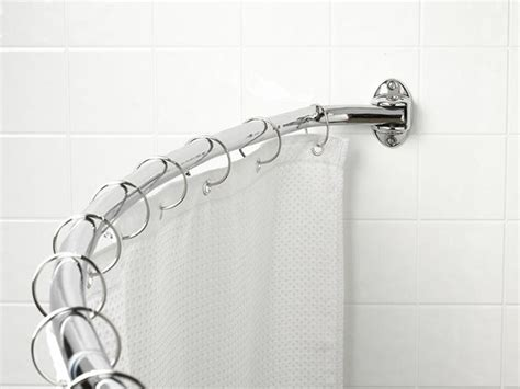 shower curtain rods tension shower rods curved