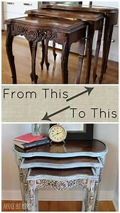 Painted, Nesting, Tables, Makeover