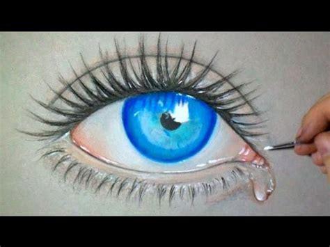 dessiner  oeil bleu version time lapse youtube