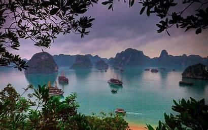 Vietnam Ha Bay Island Tropical Sunrise Nature