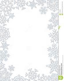 White Winter Snowflake Border