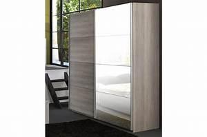 Armoire Chambre Porte Coulissante : armoire de chambre 2 portes coulissantes leo cbc meubles ~ Teatrodelosmanantiales.com Idées de Décoration