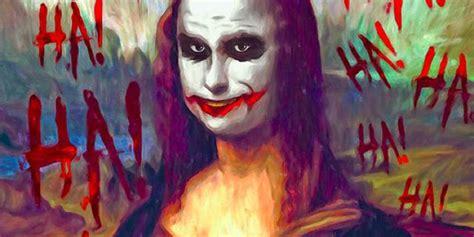 artist inserts batman  joker  classic works  art
