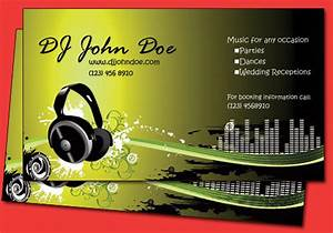 All amazing designs dj business cards for Dj business cards templates