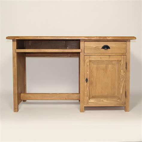 bureaux meuble bureau en bois massif ciré miel 1 porte made in meubles