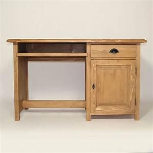Bureau En Bois Massif : bureau en bois massif cir miel 1 porte made in meubles ~ Teatrodelosmanantiales.com Idées de Décoration