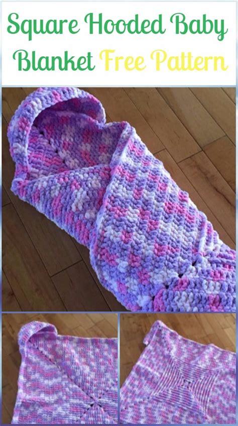 crochet hooded blanket  patterns tutorials