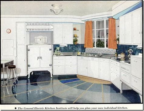 Kitchens from the 1930's and 1940's   No Pattern Required