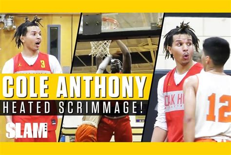 cole anthony  oak hill win heated matchup  hargrave