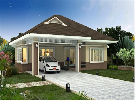 New Home Construction Designs, Small Bungalow New