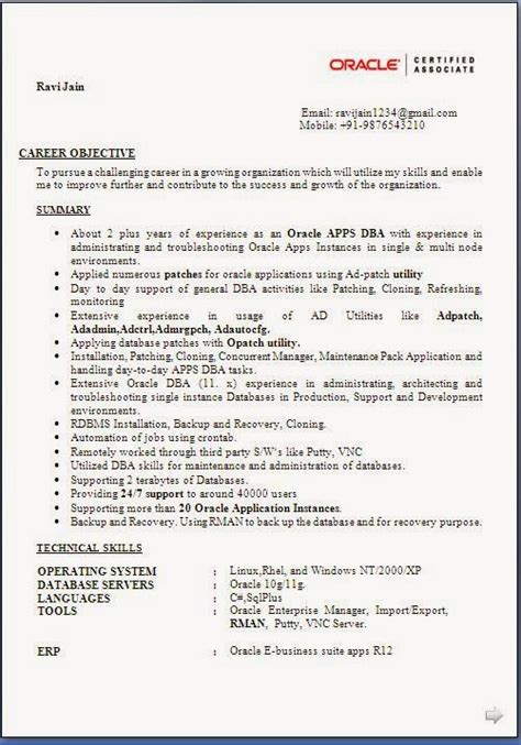 Resume for freshers it engineers