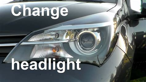 toyota yaris front light bulb change change a headlight