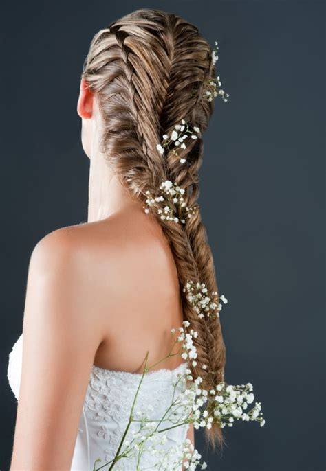 romantic floral wedding hairstyles pretty designs