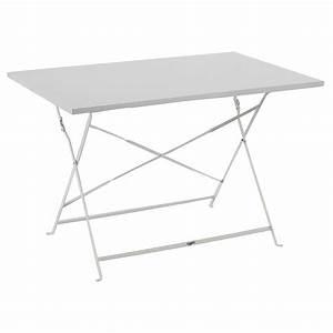 Table Pliante Bricorama : great table de balcon pliante camargue blanche places ~ Melissatoandfro.com Idées de Décoration