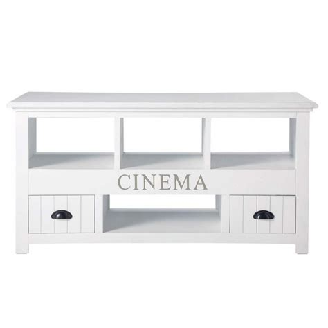 meuble tv en bois blanc newport maisons du monde