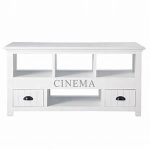 Meuble Tv Maison Du Monde : meuble tv blanc newpor meuble tv hi fi maisons du monde ~ Teatrodelosmanantiales.com Idées de Décoration