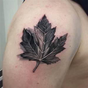 Maple Leaf Tattoo Black And White | www.imgkid.com - The ...