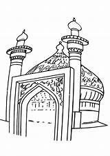 Mosque Coloring Pages Building Coloringway sketch template
