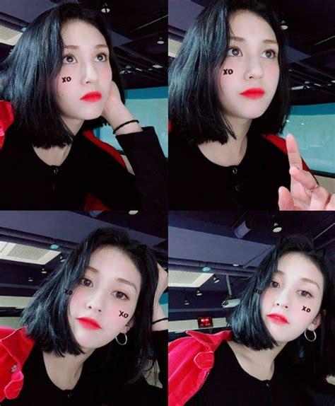 jeon somi major hairstyle transformation  short black