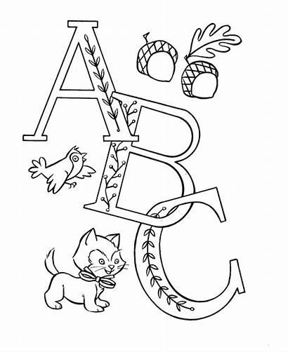 Coloring Pre Pages Sheets Abc Alphabet Letters