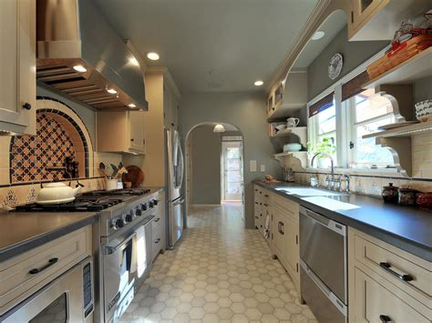 The compact kitchen can work great for a cook, and allows for fast food preparation and cleaning. How to Decorate a Galley Kitchen: HGTV Pictures & Ideas   HGTV