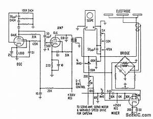 Controlling Extrusion Of Plastic On Wire - Control Circuit - Circuit Diagram