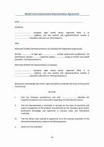 international contracts models With manufacturers rep agreement template