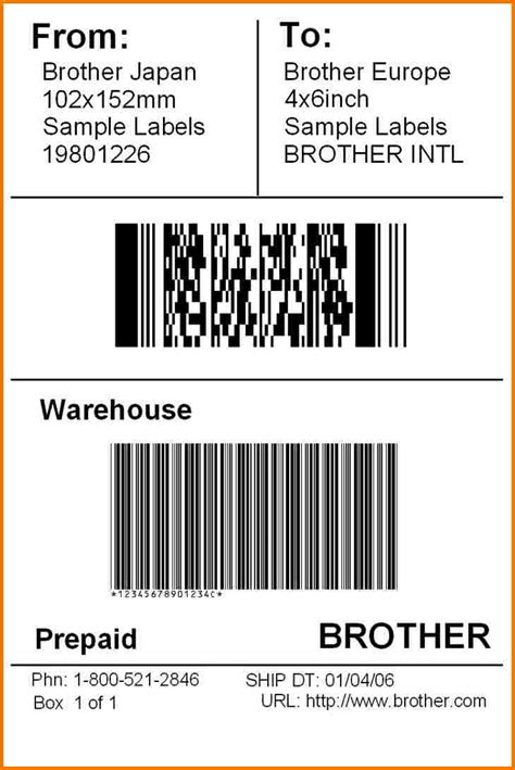 shipping label template authorization letter