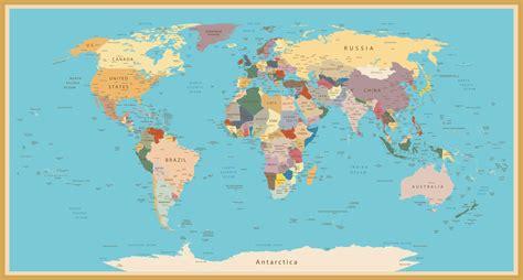 stylish vintage world map custom wallpaper