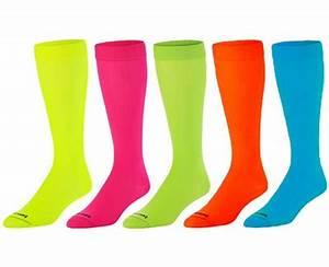 Neon Knee High KraziSox in 5 Sock Color Options Pink