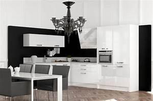 cuisine blanc et noir photo 13 25 des meubles laques With cuisine equipee noir et blanc
