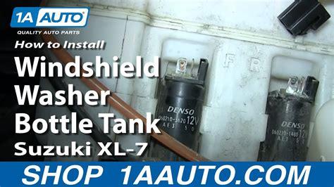 replace windshield washer reservoir   suzuki xl