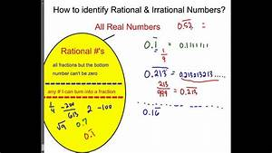 How to indentify Rational or Irrational Numbers - YouTube