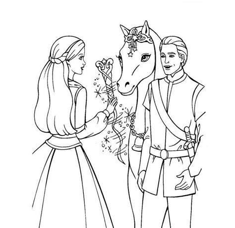barbie horse coloring pages   clip art