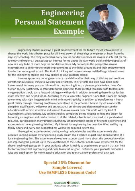 personal statement essay exles for graduate school