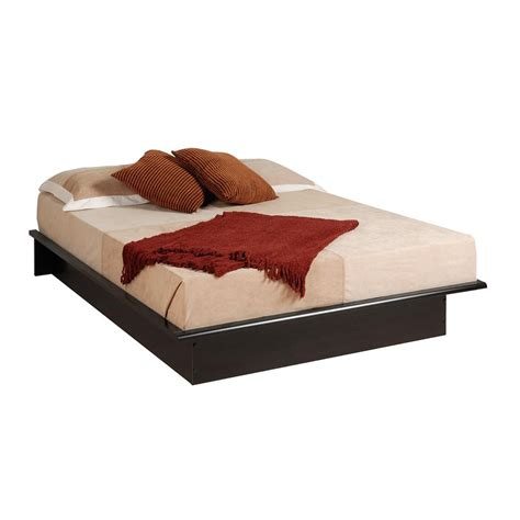 bed with mattress included shop prepac furniture black platform bed at lowes