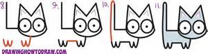 draw cute cartoon kitten letters l m easy step step drawing tutorial kids
