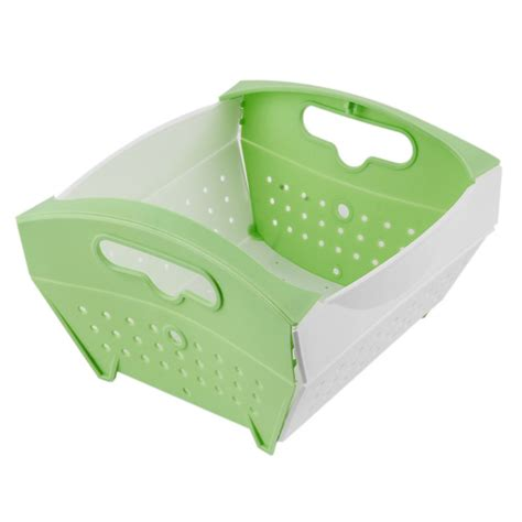 sink baskets and drainers creative foldable plastic sink drainer kitchen fruit