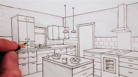 How To Draw A Room In Twopoint Perspective Time Lapse