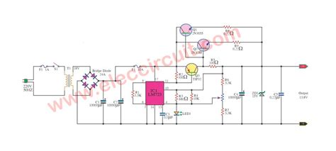 regulated power supply circuit  pcb
