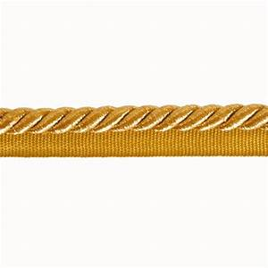 "Expo 3/8"" Nicholas Lip Cord Trim Metallic Gold - Discount"
