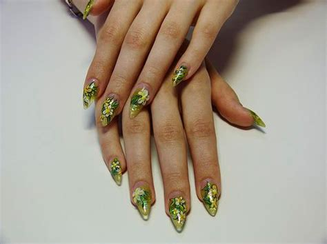 cool pretty summer acrylic nail art designs ideas