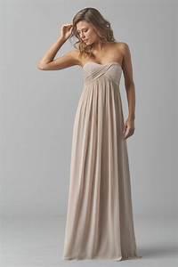 Watters mackenzie 8540i bridesmaid dress crinkle chiffon for Chiffon wedding dress empire waist