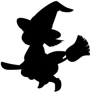 cartoon witch silhouette  images witch silhouette