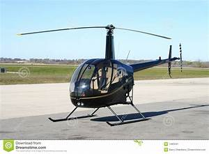 R22 helicopter stock image. Image of betaii, skids, cabin ...
