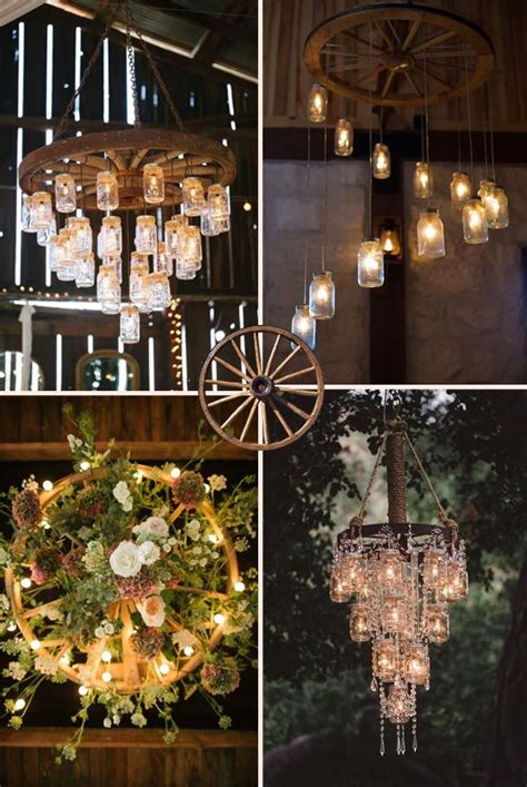 ideas  wagon wheel chandelier  pinterest