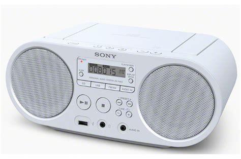 poste radio pour cuisine radio cd radio k7 cd sony zs ps50w blanc 4101537 darty