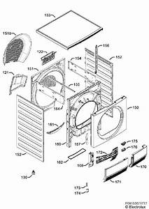 Electrolux Edc2086pdw  91609693803  Tumble Dryer Housing