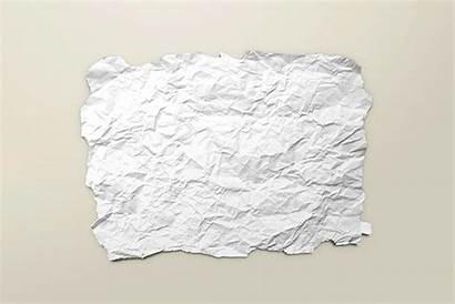 Paper Flyer Crumpled Torn Poster Mockup A4